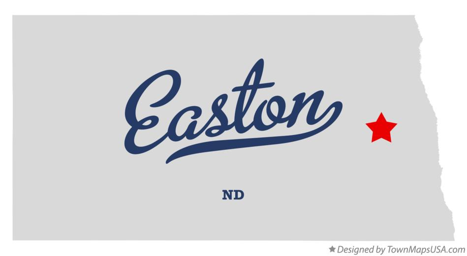 Map of Easton North Dakota ND