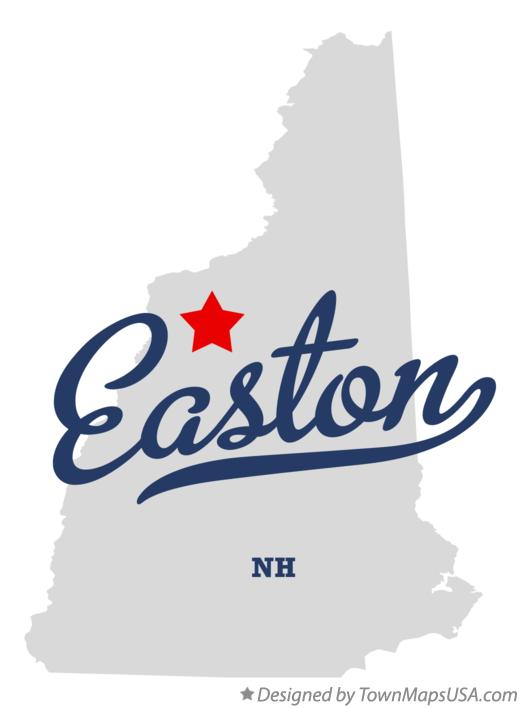 Map of Easton New Hampshire NH