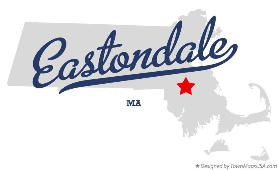 Map of Eastondale Massachusetts MA