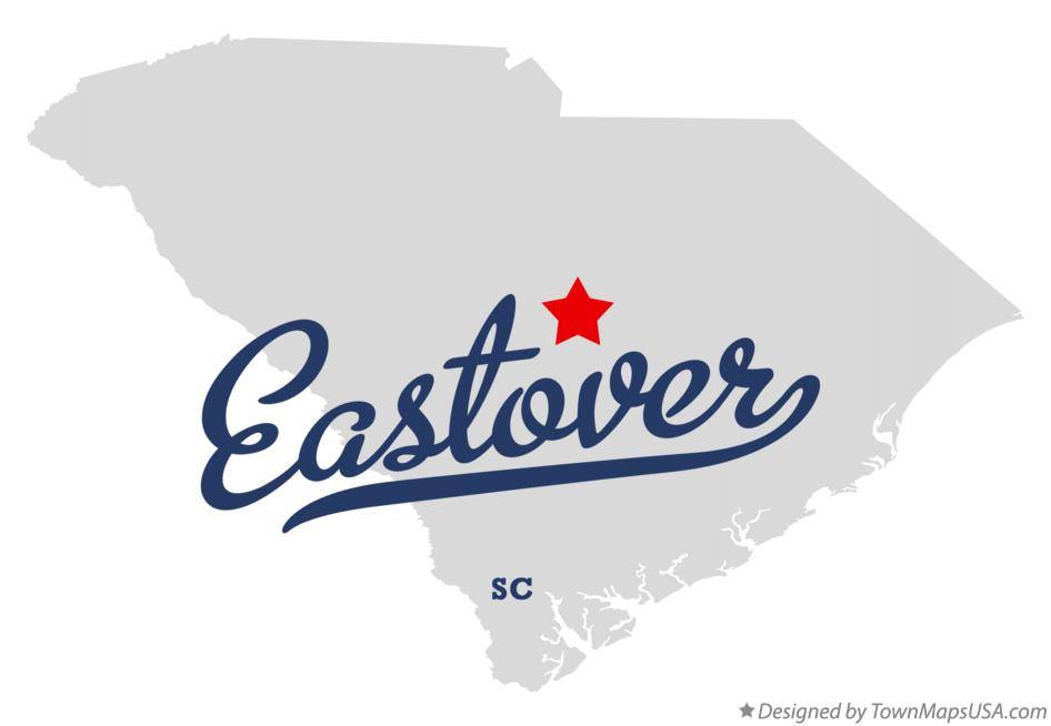 Map of Eastover South Carolina SC