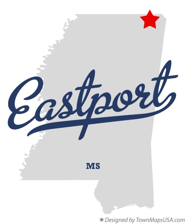 Map of Eastport Mississippi MS