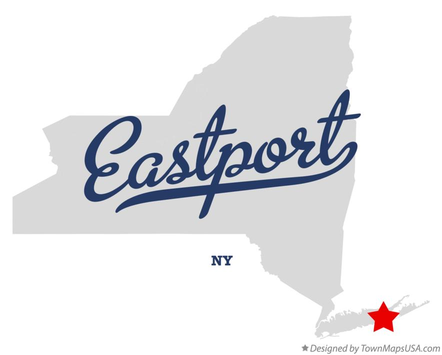 Map of Eastport New York NY