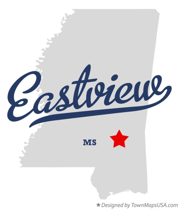 Map of Eastview Mississippi MS