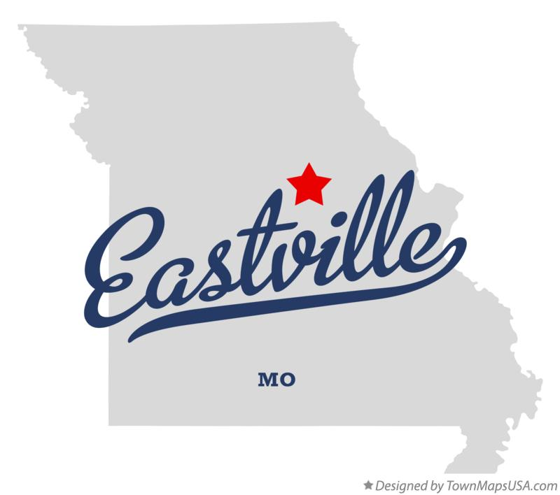 Map of Eastville Missouri MO