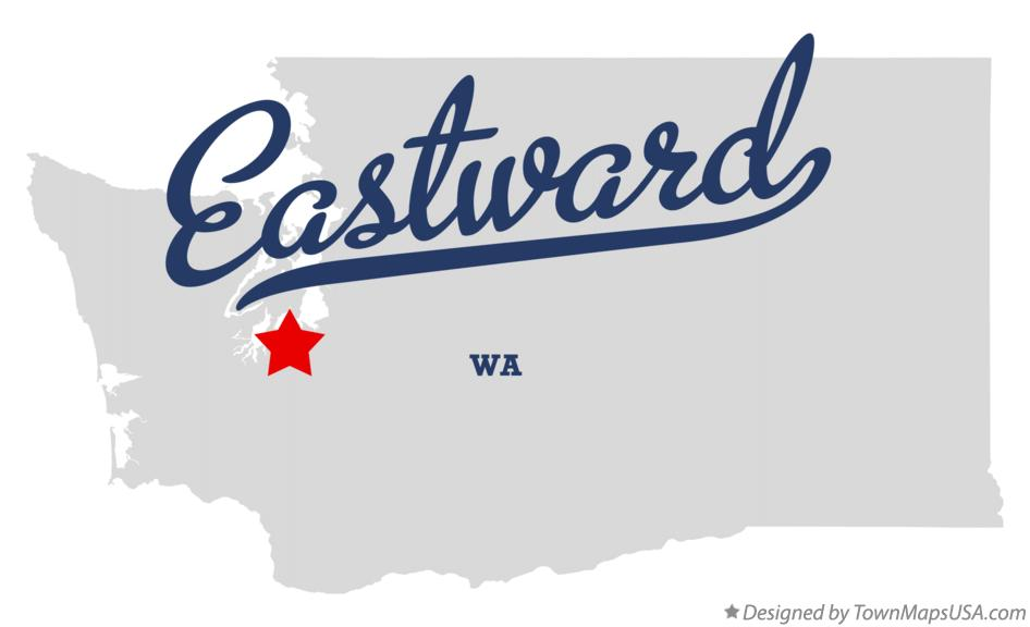 Map of Eastward Washington WA