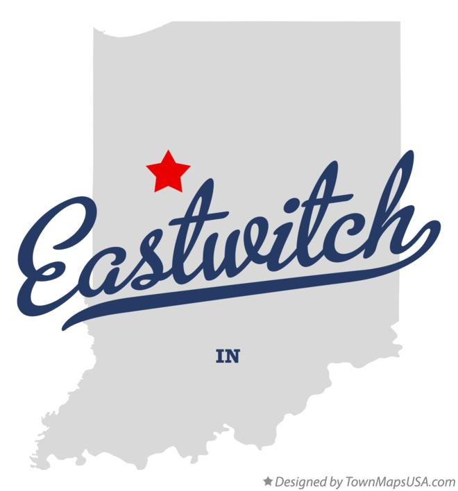 Map of Eastwitch Indiana IN