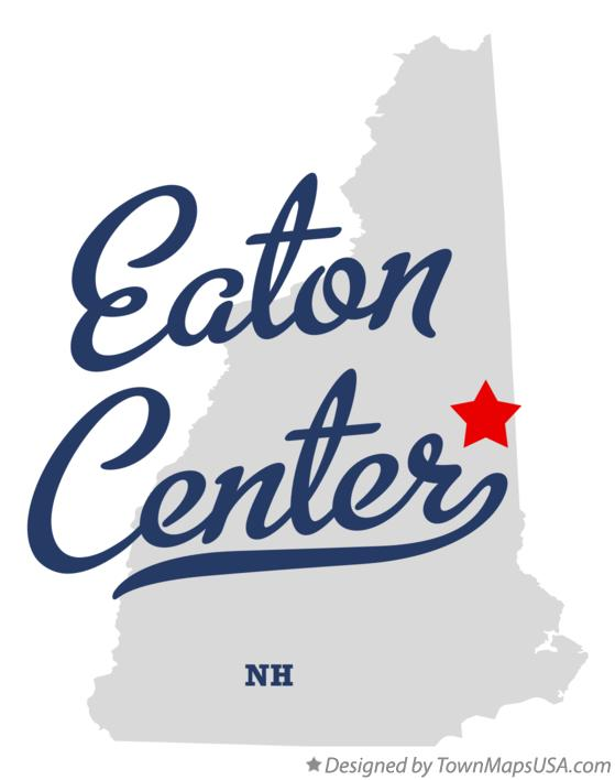 Map of Eaton Center New Hampshire NH