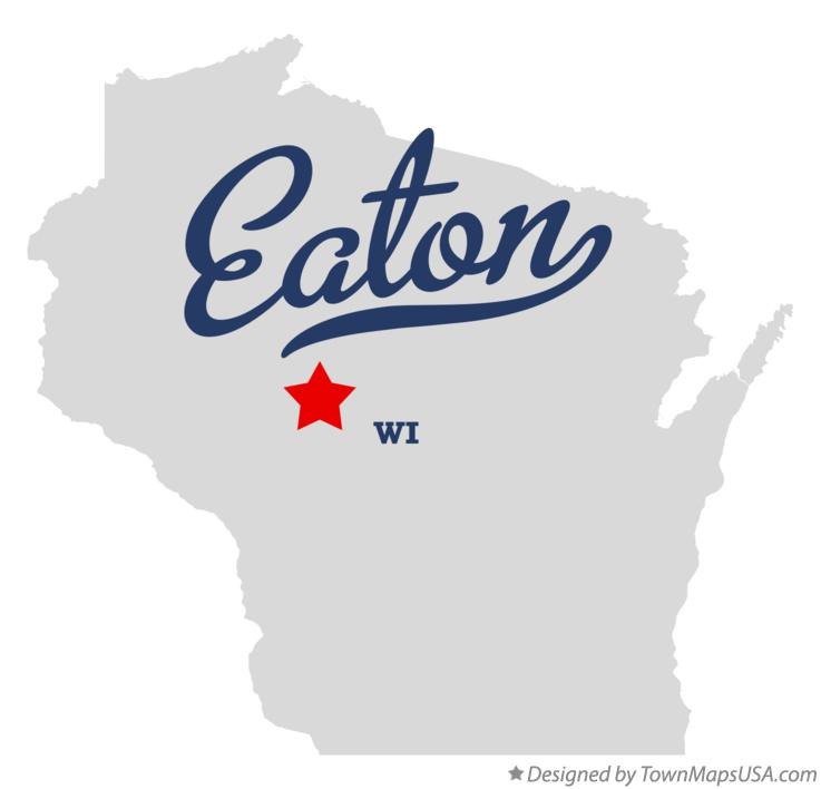 Map of Eaton Wisconsin WI