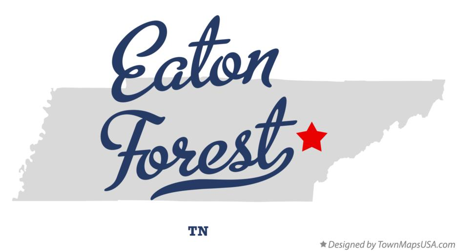 Map of Eaton Forest Tennessee TN