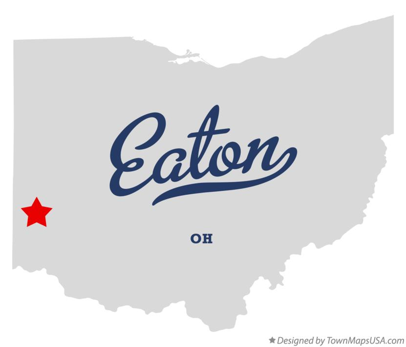 Map of Eaton Ohio OH