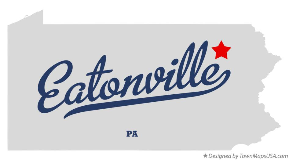 Map of Eatonville Pennsylvania PA