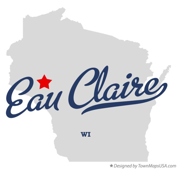 Map of Eau Claire Wisconsin WI