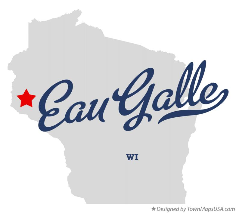 Map of Eau Galle Wisconsin WI