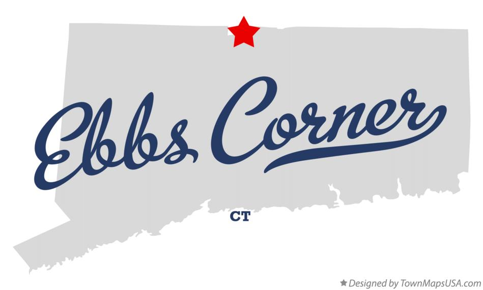 Map of Ebbs Corner Connecticut CT