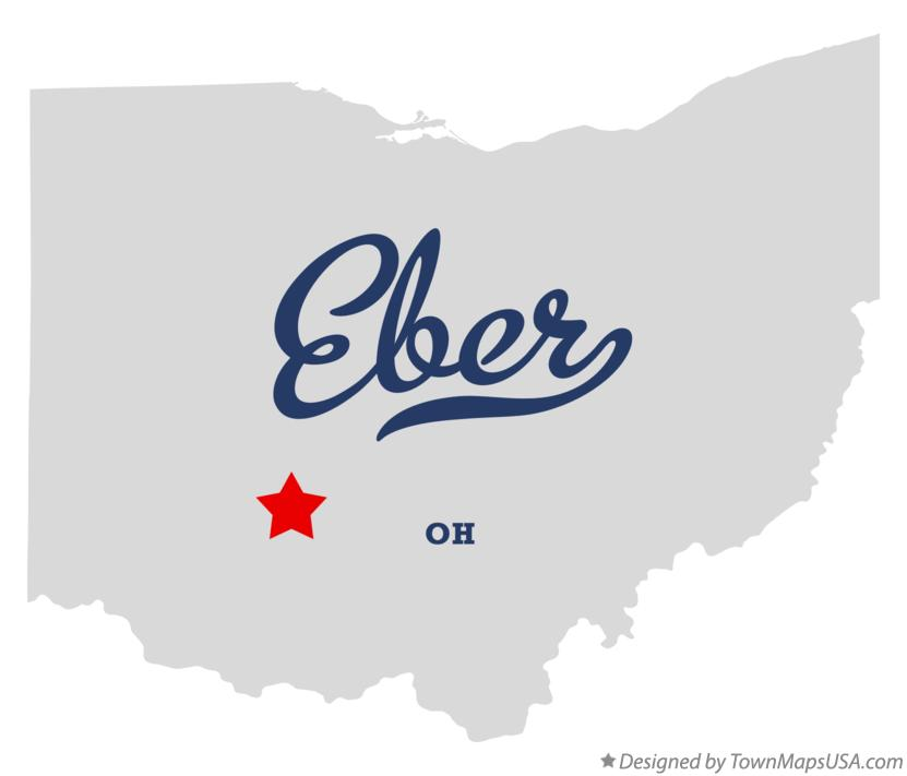 Map of Eber Ohio OH