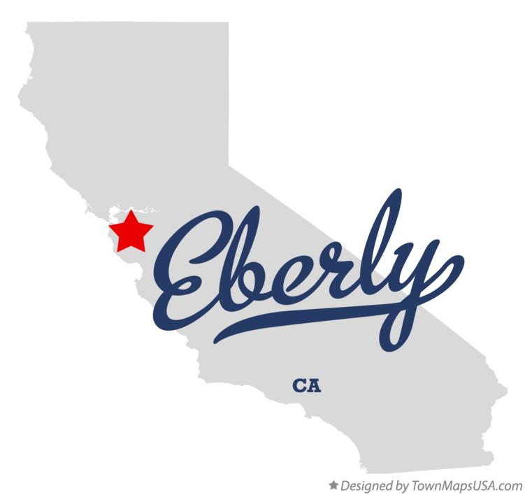 Map of Eberly California CA