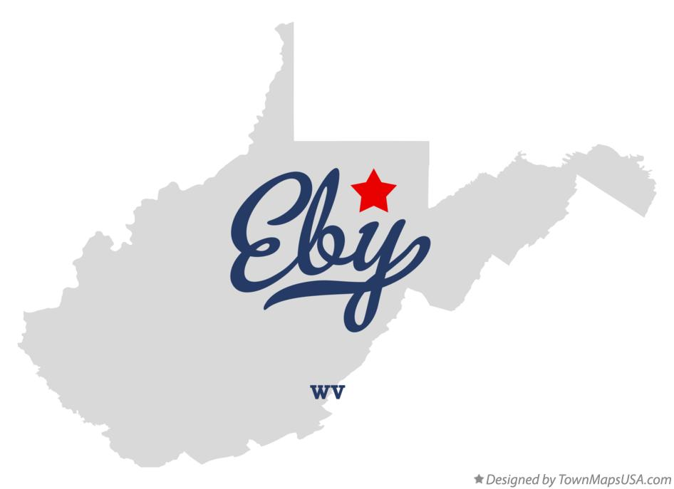 Map of Eby West Virginia WV