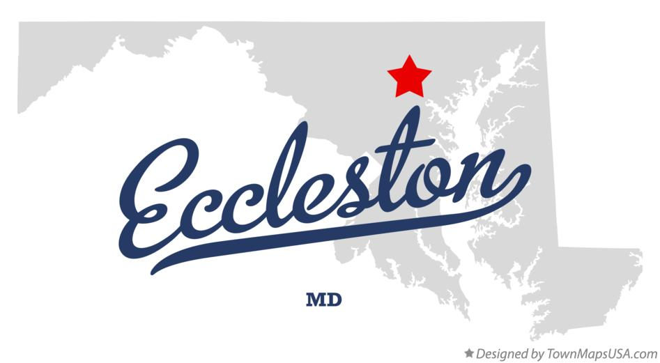 Map of Eccleston Maryland MD