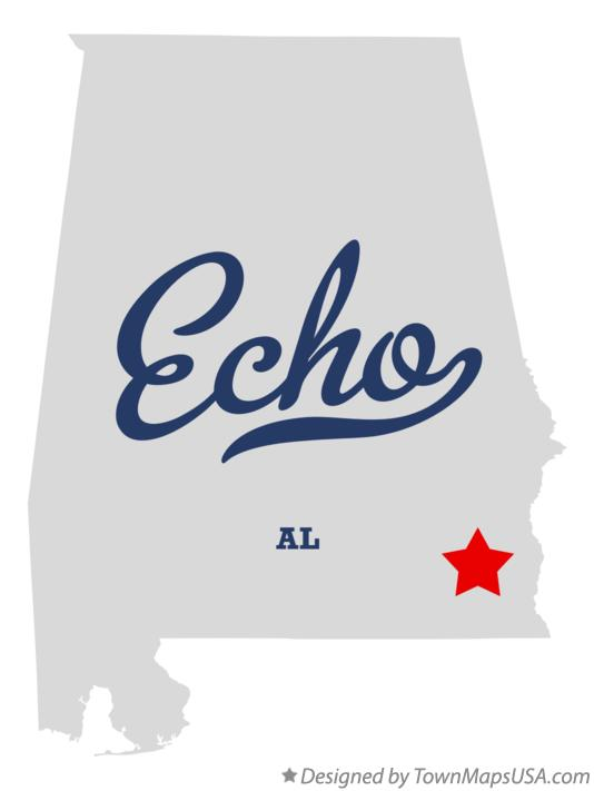 Map of Echo Alabama AL