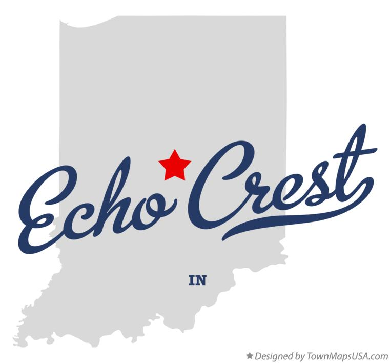 Map of Echo Crest Indiana IN
