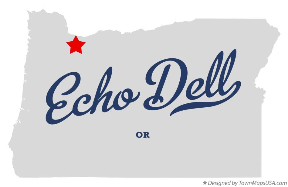 Map of Echo Dell Oregon OR