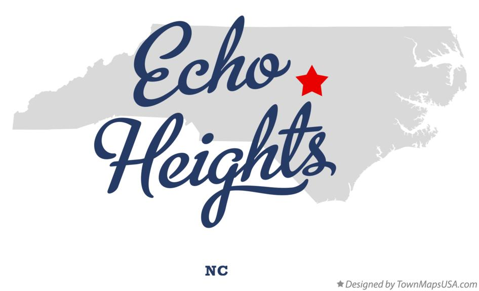Map of Echo Heights North Carolina NC