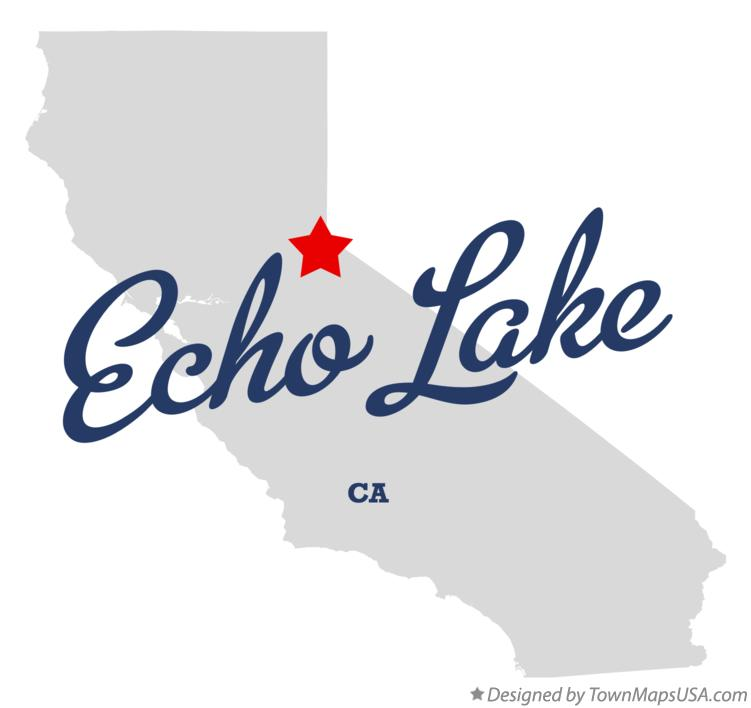Map of Echo Lake California CA
