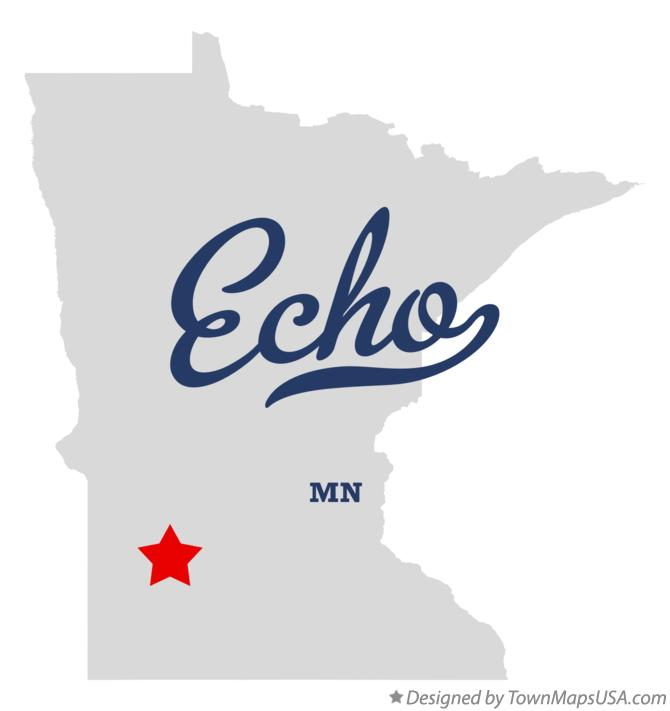 Map of Echo Minnesota MN