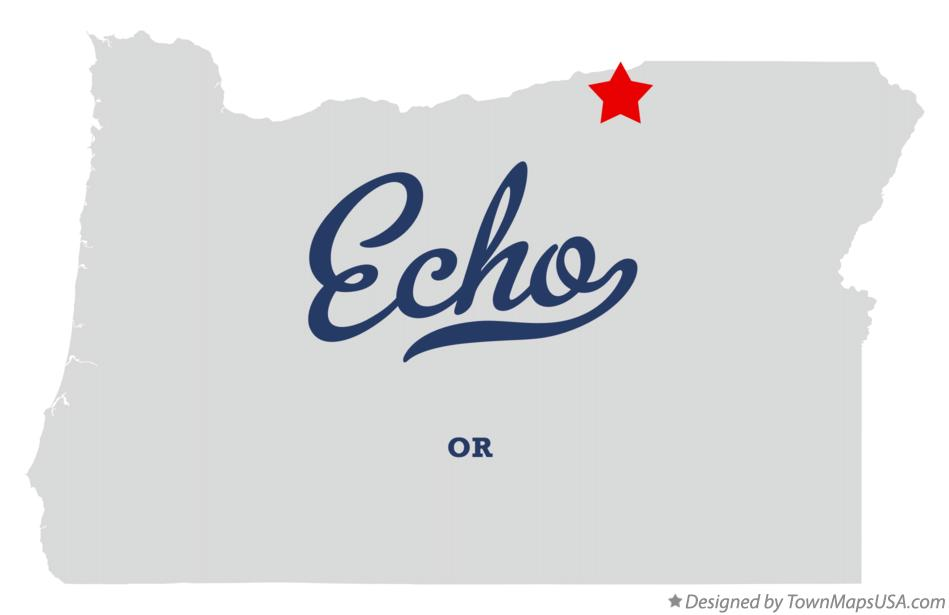 Map of Echo Oregon OR