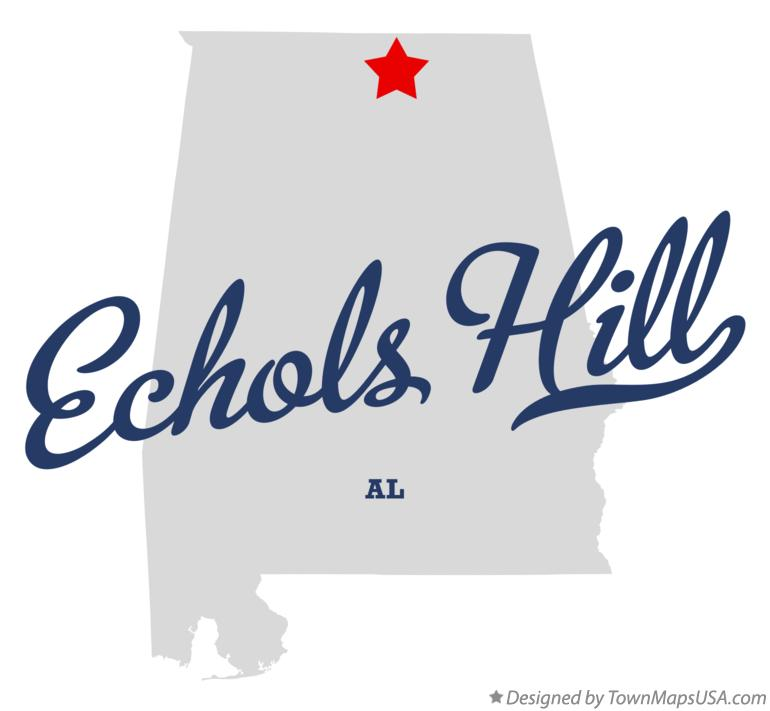 Map of Echols Hill Alabama AL
