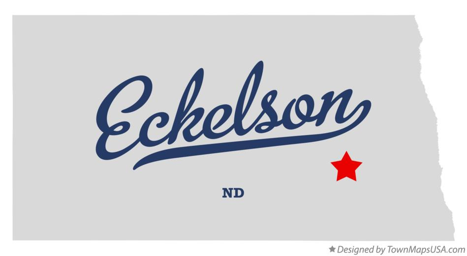 Map of Eckelson North Dakota ND