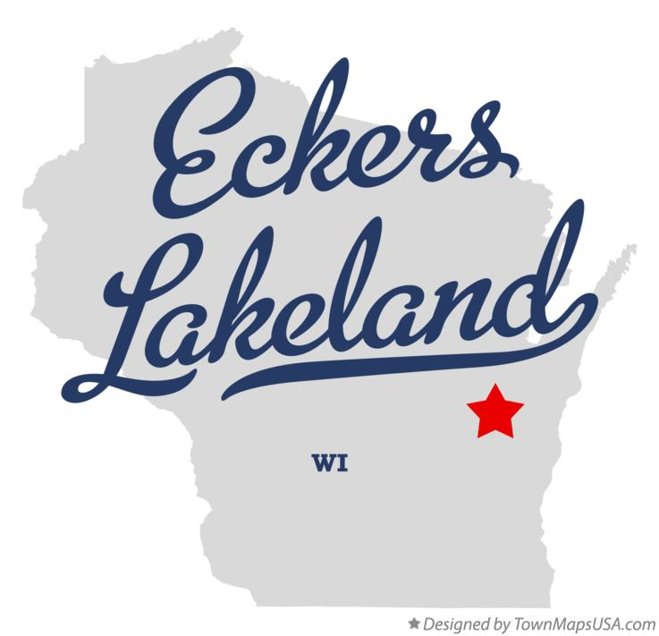 Map of Eckers Lakeland Wisconsin WI