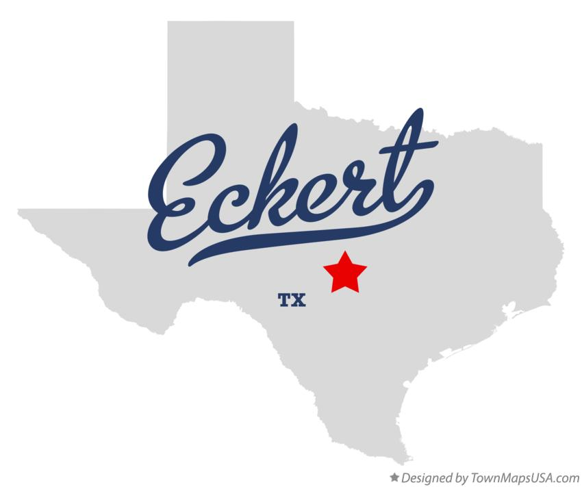 Map of Eckert Texas TX