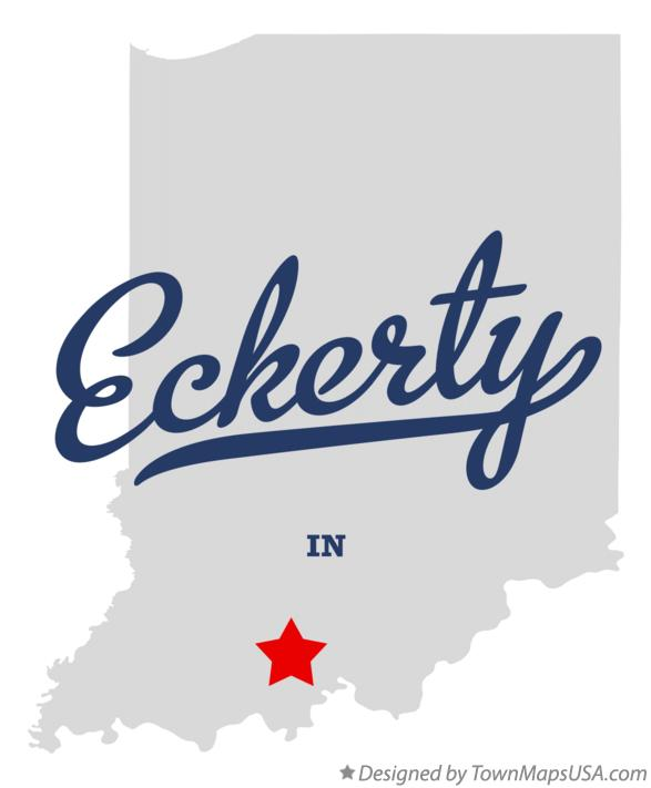 Map of Eckerty Indiana IN