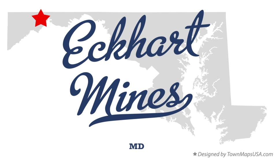 Map of Eckhart Mines Maryland MD