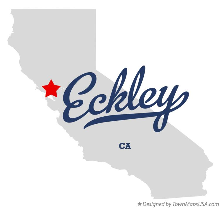 Map of Eckley California CA
