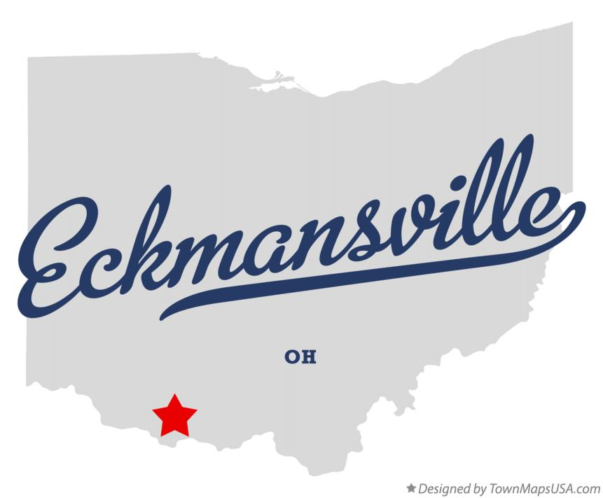Map of Eckmansville Ohio OH