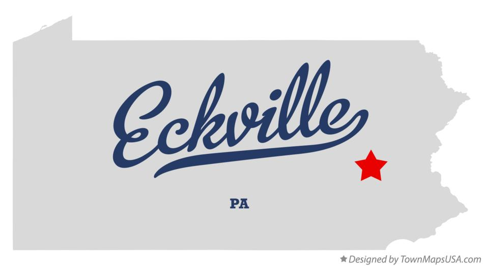 Map of Eckville Pennsylvania PA