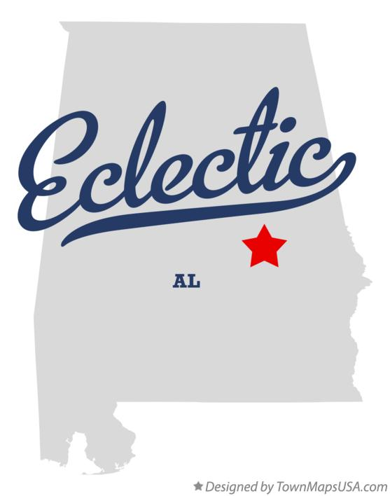 Map of Eclectic Alabama AL