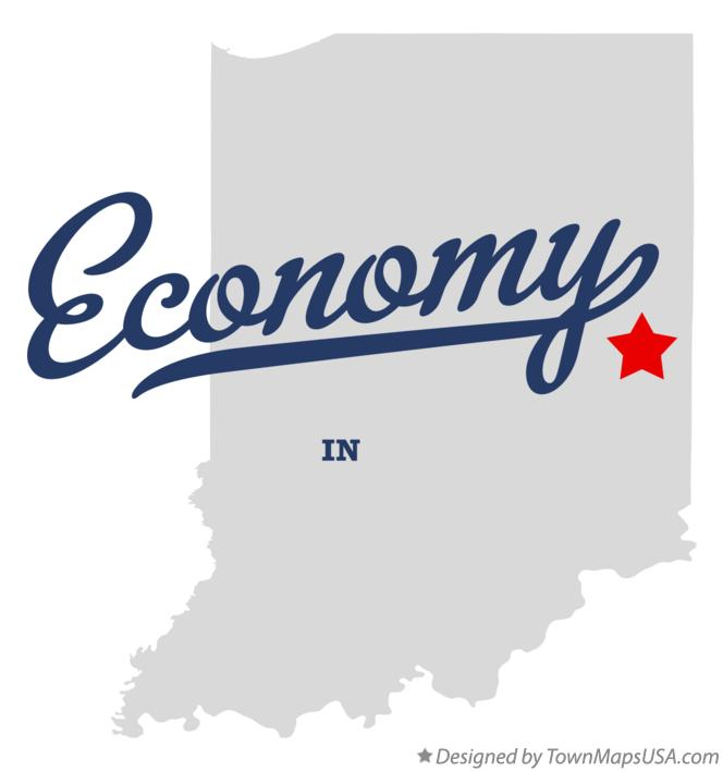 Map of Economy Indiana IN