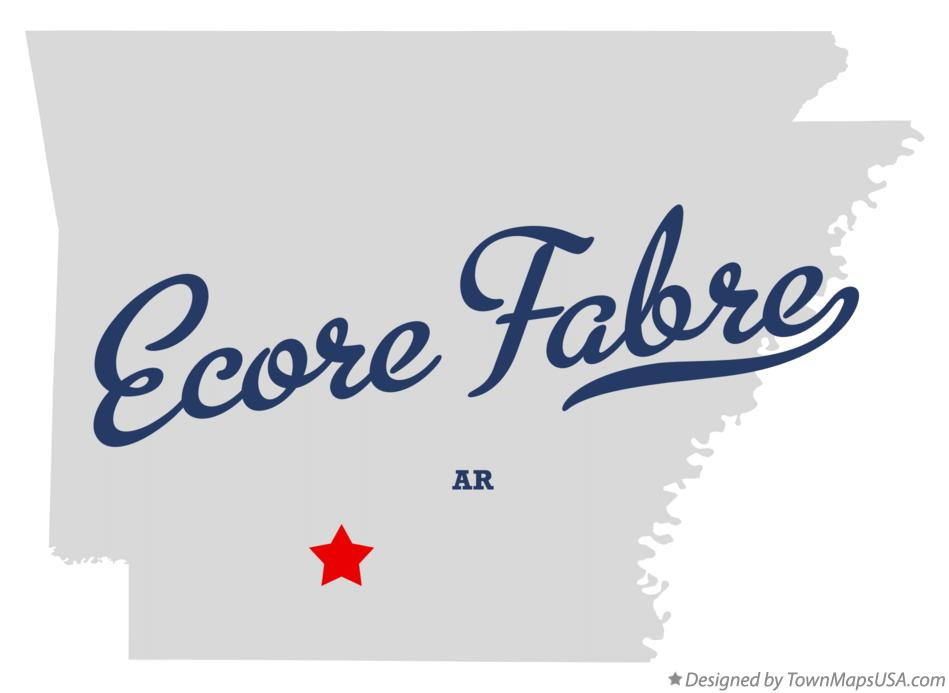 Map of Ecore Fabre Arkansas AR