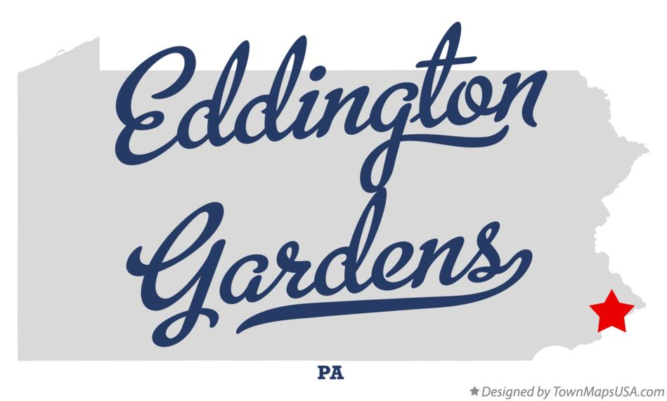 Map of Eddington Gardens Pennsylvania PA