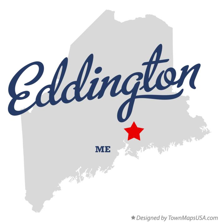 Map of Eddington Maine ME