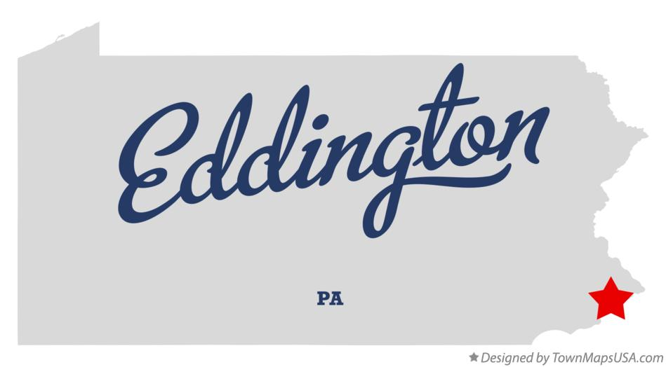 Map of Eddington Pennsylvania PA