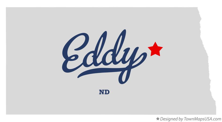 Map of Eddy North Dakota ND