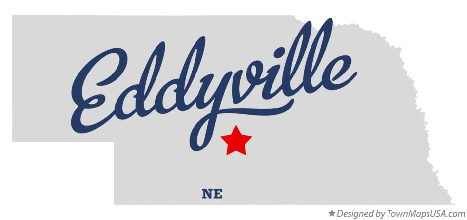 Map of Eddyville Nebraska NE