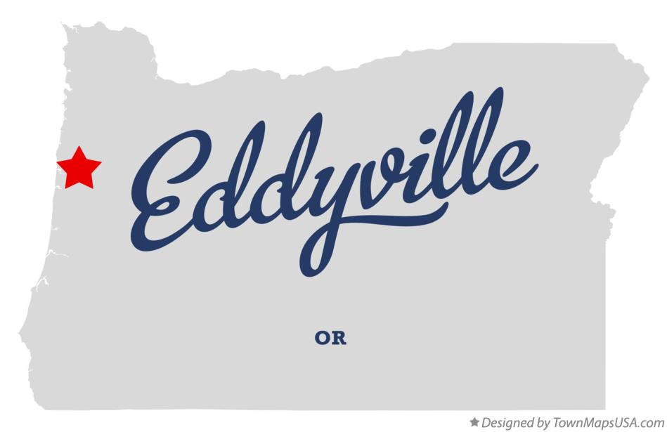 Map of Eddyville Oregon OR