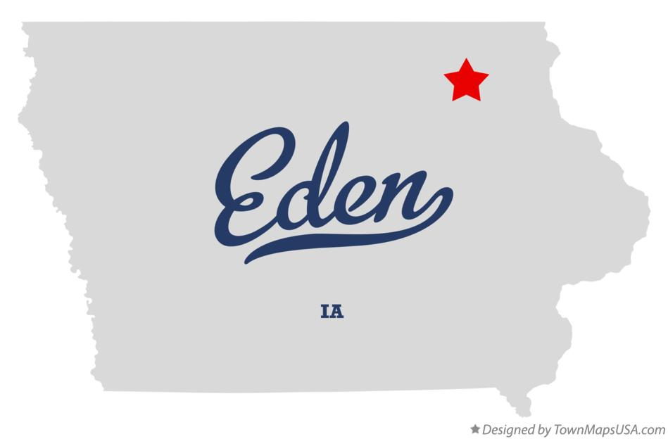 Map of Eden Iowa IA