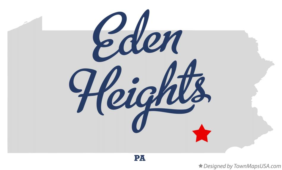 Map of Eden Heights Pennsylvania PA