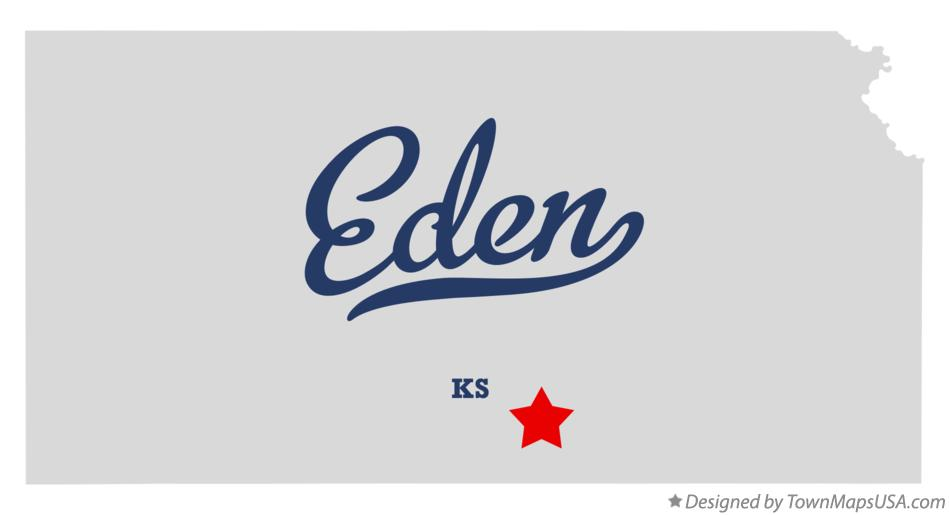 Map of Eden Kansas KS